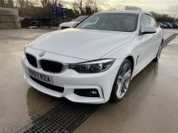 2017 BMW 420D M SPORT, 17 FORD TRANSIT CUSTOM, COMPACT TRACTOR, SCISSOR LIFTS ENDS TODAY 7PM