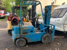 MITSUBISHI FG15 1.6T GAS POWERED BLUE FORKLIFT, RUNS AND WORKS *PLUS VAT*