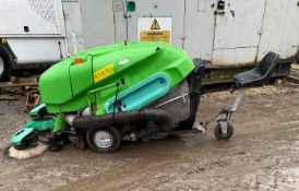 GREEN MACHINE 414/RS RIDE ON SWEEPER, RUNS, DRIVES AND WORKS *PLUS VAT*