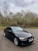 2008/08 REG BMW 320I M SPORT 2.0 PETROL BLACK CONVERTIBLE, SHOWING 3 FORMER KEEPERS *NO VAT*