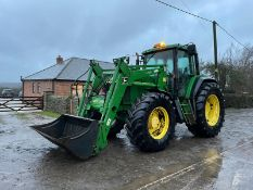 2001 JOHN DEERE 6910 S TRACTOR WITH LOADER, RUNS, DRIVES AND LIFTS, CLEAN MACHINE *PLUS VAT*