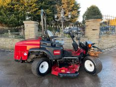 TORO GROUND MASTER 360 QUAD STEER RIDE ON MOWER, RUNS, DRIVES AND CUTS, CLEAN MACHINE, LOW 950 HOURS
