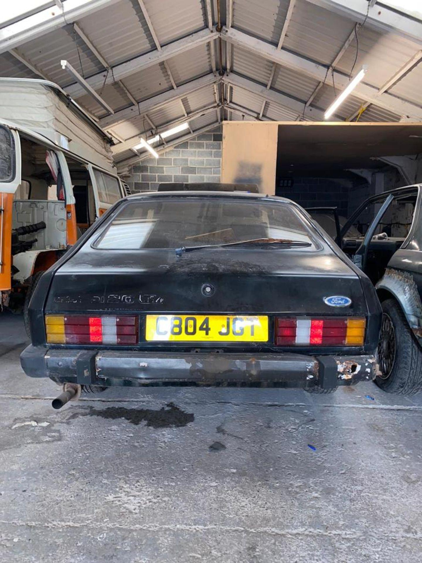 1986/C REG FORD CAPRI LASER AUTO 2.0 PETROL BLACK 3 DOOR *NO VAT* - Image 2 of 32