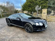 2014/14 REG BENTLEY CONTINENTAL GT SPEED 6.0 AUTO BLACK COUPE 626 HP- FULL BENTLEY SERVICE HISTORY