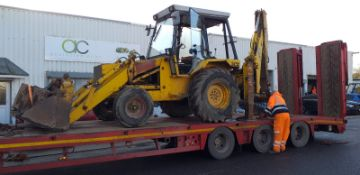 JCB 3CX SITE MASTER EXTRA DIG 1983 3 X BUCKETS AS SHOWN - 4 IN 1 FRONT LOADING BUCKET, GOOD CAB