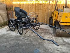 SPECIALISED HORSE CARRIAGE CART, HYDRAULIC BRAKES AND HANDBRAKE *PLUS VAT*