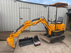 Rhinoceros XN08 Excavator only 66 hours date of manufacture April 2020, c/w 3 buckets and tool kit
