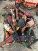 PALLET OF USED ROCK BREAKERS, MODEL ECOAIR ETC *PLUS VAT*