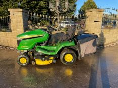 2017 JOHN DEERE X350R RIDE ON MOWER, RUNS, DRIVES AND CUTS, LOW 302 HOURS FROM NEW! *NO VAT*