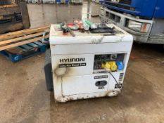 HYUNDAI LONG RUN DIESEL TANK SILENT GENERATOR, MODEL: DHY6000SE, AC 115V / AC230V