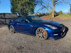 2013/63 REG NISSAN GT-R PREMIUM EDITION SEMI-AUTOMATIC 3.8 PETROL BLUE COUPE *NO VAT*