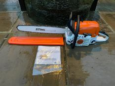 "Brand New And Unused Stihl MS391 Chainsaw 25"" Bar And Chain Bar Cover Manual *NO VAT*"