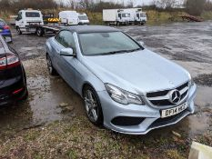 2014/14 REG MERCEDES-BENZ E220 AMG SPORT CDI AUTO 2.0 DIESEL CONVERITBLE, SHOWING 0 FORMER KEEPERS