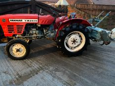 YANMAR YM2610 COMPACT TRACTOR & ROTAVATOR, STARTS FIRST TIME, RUNS, DRIVES WORKS WELL *PLUS VAT*
