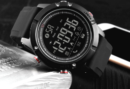 Black Smart Watch Digital Mens Skmei Activity Tracker *NO VAT*