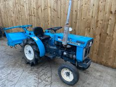 MITSUBISHI D1500V COMPACT TRACTOR & ROTAVATOR, STARTS FIRST TIME RUNS AND DRIVES WELL *PLUS VAT*