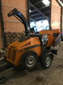 FORST ST8 TOWABLE SINGLE AXLE WOOD CHIPPER IN PERFECT WORKING ORDER, ONLY 182 HOURS *NO VAT*