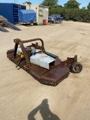 6FT TOPPER TO SUIT TRACTOR, NEW BELTS 18 MONTHS AGO, SCRUFFY LOOKING CONDITION BUT WORKING ORDER