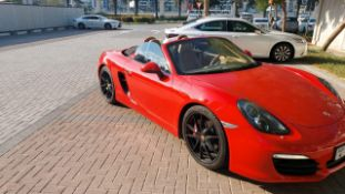 2015 Porsche Boxster S Spider 75,000 km Pdk transmission Red with black hood Tan interior