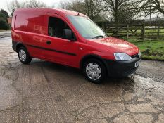 2009/59 REG VAUXHALL COMBO 1700 CDTI AUTOMATIC 1.25 DIESEL RED VAN, SHOWING 0 FORMER KEEPERS