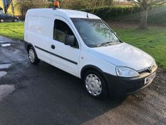 2007 VAUXHALL COMBO 2000 CDTI 1.25 DIESEL WHITE VAN, SHOWING 0 FORMER KEEPERS *NO VAT*