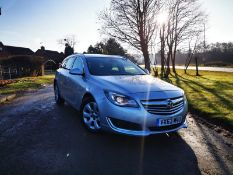 2013/63 REG VAUXHALL INSIGNIA TECHLINE CDTI ECO 2.0 DIESEL SILVER ESTATE, SHOWING 3 FORMER KEEPERS