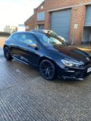2015/64 REG VOLKSWAGEN SCIROCCO R TSI 2.0 PETROL BLACK COUPE, SHOWING 2 FORMER KEEPERS *NO VAT*
