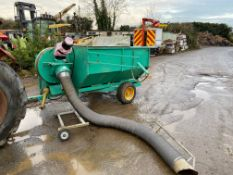 Terra Vac hoover collector, PTO driven fan and hydraulic line to operate tipper. *PLUS VAT*