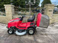 HONDA 2620 V TWIN RIDE ON MOWER, RUNS, DRIVES AND CUTS, CLEAN MACHINE, ELECTRIC COLLECTOR *NO VAT*