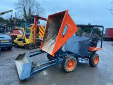 03 Ausa 2 ton 4x4 SELF LOADING dumper, hydraulic front arm to load itself *plus vat*