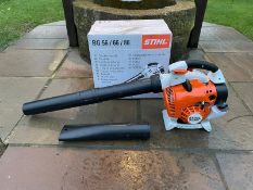 BRAND NEW AND UNUSED STIHL BG86C-E LEAF BLOWER (BOXED) C/W PIPES AND MANUAL *NO VAT*