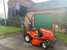 KUBOTA G21E RIDE ON MOWER, ONLY 46 HOURS, YEAR 2018, HIGH LIFT COLLECTOR, EX DEMO *PLUS VAT*
