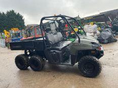 2013 POLARIS 800 EFI 6X6 ATV, RUNS & DRIVES, GOOD CONDITION, CANOPY, TIPPING BACK, X2 STORAGE BOXES