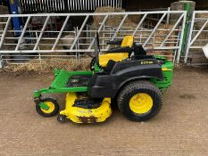 2014 JOHN DEERE Z435 ZERO TURN MOWER, SOLD NEW IN 2015, RUNS, DRIVES AND CUTS, GOOD CONDITION