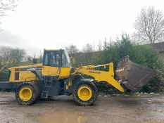 KOMATSU WA430 LOADING SHOVEL, HIGH TIP BUCKET, AUTO GREASING, SOLID TYRES, YEAR 2009 *PLUS VAT*