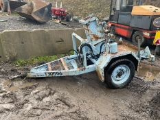ONE TON SINGLE AXLE BREAKER TRAILER, GOOD RAM *NO VAT*