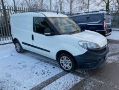 2016/65 REG FIAT DOBLO 16V MULTIJET 1.25 DIESEL WHITE PANEL VAN, SHOWING 1 FORMER KEEPER *PLUS VAT*