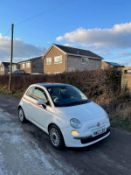 2012/12 REG FIAT 500 LOUNGE 1.25 PETROL WHITE 3 DOOR HATCHBACK, SHOWING 2 FORMER KEEPERS *NO VAT*
