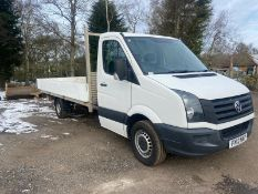 2013/13 REG VOLKSWAGEN CRAFTER CR35 TDI 136 LWB 2.0 DIESEL DROPSIDE LORRY, SHOWING 1 FORMER KEEPER