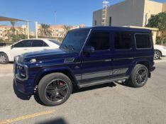 2014 - Mercedes G63 Amg - 69,500 KM - history Blue metallic