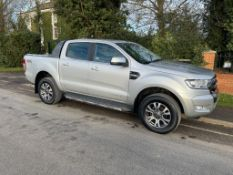 2015/64 REG FORD RANGER LIMITED 4X4 TDCI 2.2 DIESEL SILVER PICK-UP, SHOWING 3 FORMER KEEPERS *NO VAT