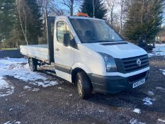 2015/65 REG VOLKSWAGEN CRAFTER CR35 TDI 2.0 DIESEL WHITE DROPSIDE LORRY, SHOWING 1 FORMER KEEPER