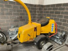 ENTEC WOODPECKER TOWABLE WOOD CHIPPER, KOHLER PETROL ENGINE, C/W SPARE WHEEL *PLUS VAT*