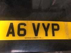 A6 VYP - VEHICLE REGISTRAION PLATE / REG NO / NUMBER PLATE - CURRENTLY ON RETENTION *NO VAT*