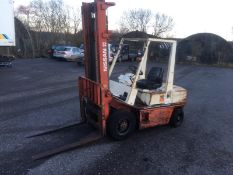NISSAN 25 FORKLIFT, 2.5 TONNE, STARTS, RUNS, LIFTS, GOOD BRAKES, LIGHTS WORK *NO VAT*