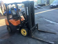 DAEWOO DOOSAN 3 TONNE DIESEL FORKLIFT, 3 STAGE MAST, SIDE SHIFT, GOOD BRAKES, HANDBRAKE *NO VAT*