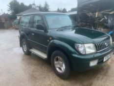 2001/Y REG TOYOTA LANDCRUISER COLARADO GX 3.0 DIESEL GREEN, SHOWING 4 FORMER KEEPERS *NO VAT*