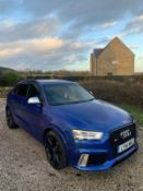 2014/14 REG AUDI RS Q3 TFSI QUATTRO 2.5 SEMI-AUTOMATIC BLUE *NO VAT*