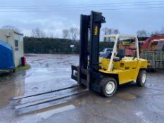 YALE 7 TON DIESEL FORKLIFT, 6 CYLINDER ISUZU ENGINE, 6FT FORKS, STARTS EASILY AND RUNS LOVELY