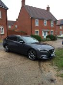 2015/15 REG MAZDA 6 SPORT NAV 2.2 DIESEL ESTATE GREY, SHOWING 2 FORMER KEEPERS *NO VAT*